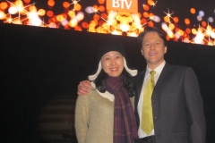 With manager Lily Fan